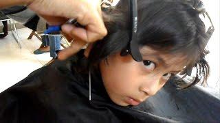 Enjoying her haircut - Tomboy haircut