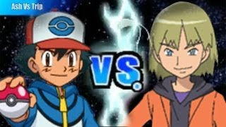 Pokemon Black and White 2 Wifi Battle - Ash Vs Trip