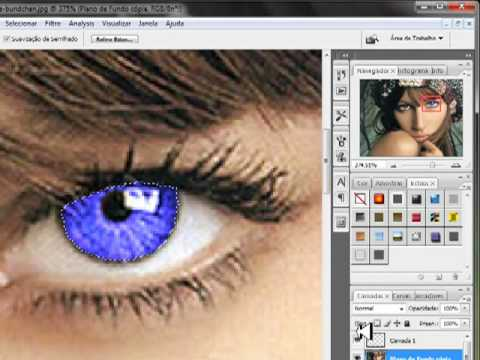 Photoshop CS3 mudando a cor dos olhos por Tiago Santos