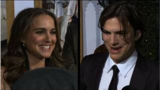 Natalie Portman Glows and Ashton Kutcher Offers Parent Tips at No Strings Attached Premiere