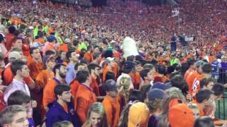 """Clemson Football entrance """"The Hill"""" vs Louisville 2016 and kickoff"""