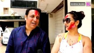 Govinda Celebrate HOLI With Family At Home