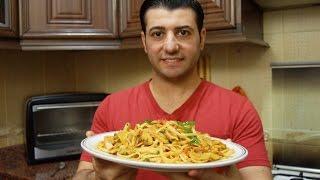 لينغويني باستا بالخضارChef Ahmad AllCooking/Linguine Vegetables