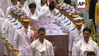 Thousands of faithful at funeral of Unification Church founder
