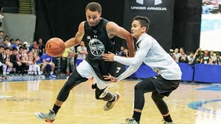 Stephen Curry BREAKS ANKLES in Philippines (2015 Under Armour tour)