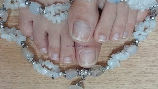How I Clean and Shape My Natural Square Toe Nails live tutorial Easy Steps