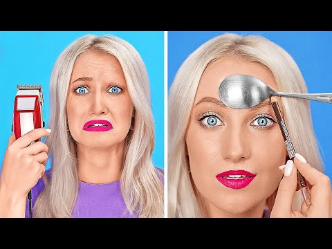 COOL BEAUTY HACKS TO LOOK AWESOME Funny Girly Tips by 123 GO
