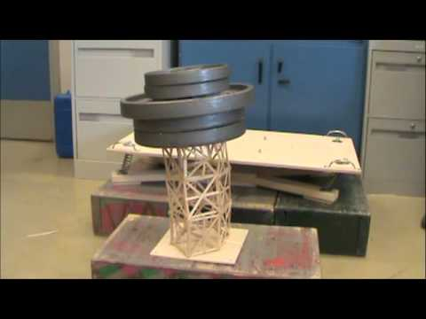 Toothpick Tower Earthquake Project Springvalley Middle School Section 7 7 Part 1