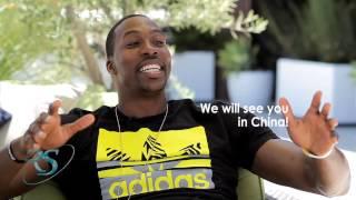 NBA Stars DWIGHT HOWARD & JOHN WALL speak CHINESE with Yi Jianlian!