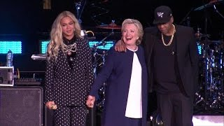 Hillary Clinton gets in formation with Jay Z and Beyonce