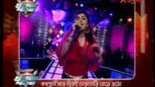 Ruprekha,Parambrata And Swastika Singing on Royal Bengal Superstar Star Jalsa Date 2009 08 27 Time21 56 47h
