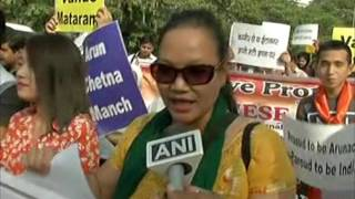 Students protest China's move to rename India's northeast towns