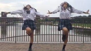 面白い!女子高生が西村ヒロチョのグーチョキパーをやってみた!《ミクチャLOVE2》双子ダンス