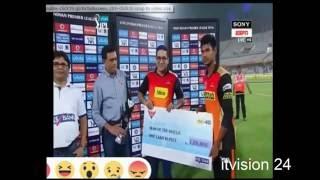 Mustafizur Rahman 1st Man of the Match IPL( 2016)