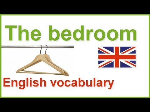 English words in the bedroom   English vocabulary