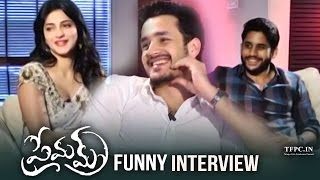Akhil Interviews Naga Chaitanya & Sruthi Hassan About Premam | Funny Interview | TFPC