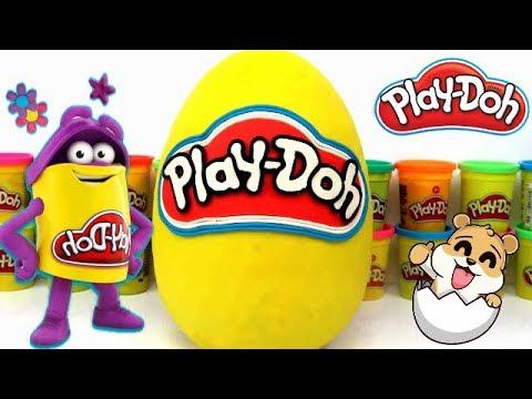 Huevo Sorpresa Gigante de Plastilina Play doh en Español - Con Eva y Lina