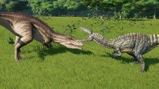 Suchomimus VS Carcharodontosaurus - Jurassic World Evolution