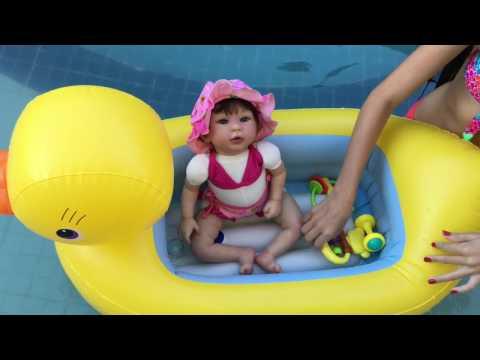 #1 ROTINA DE FÉRIAS da minha bebê reborn do molde kylin