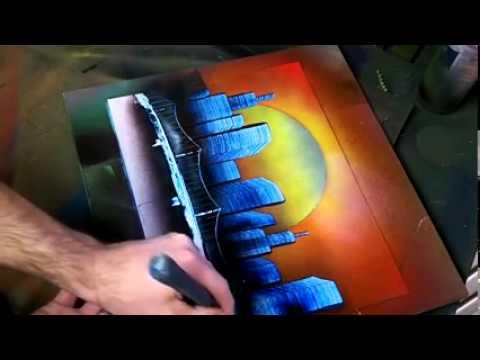 Desenho 3D com tinta spray