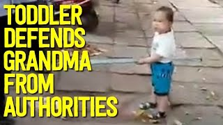 Chinese Toddler Uses Steel Pipe to Defend Grandma from Authorities