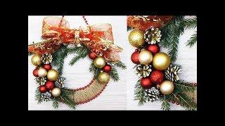 DIY. Christmas Decor! Easy Fast DIY Christmas & Winter Idea. МК. Новогодний венок. 2019