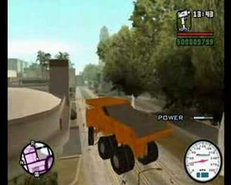 GTA SA Super CJ and his Super Truck