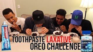 TOOTHPASTE LAXATIVE Oreo Challenge [PRANK!!!]