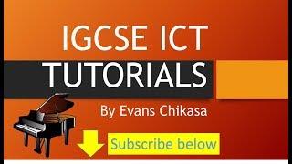 IGCSE ICT February March 2017 Paper 21 Data Manipulation Part 2