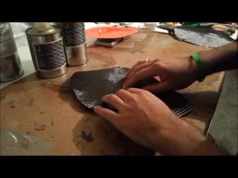 Guida laminazione manuale carbonio no vuoto Tutorial hand lamination carbon fiber no vacuum