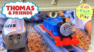 Thomas Trackmaster Racing Competition! Journey Beyond Sodor with Hugo, Gordon  and Flying Scotsman!