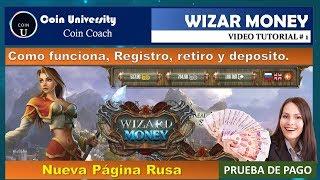 Nueva Pagina Rusa Wizard Money   50 Rublos Gratis   Retiro  Vídeo # 1.
