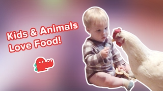 Kids & Animals Love Food! Funniest Hungry Animals, Clips & Compilation