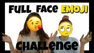 FULL FACE EMOJI CHALLENGE || Taylor and Vanessa