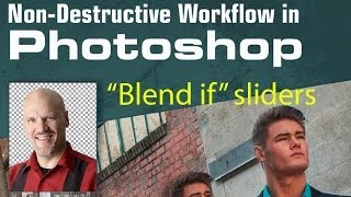 How to use the blend if sliders for advanced blending of Layers in Photoshop Tutorial