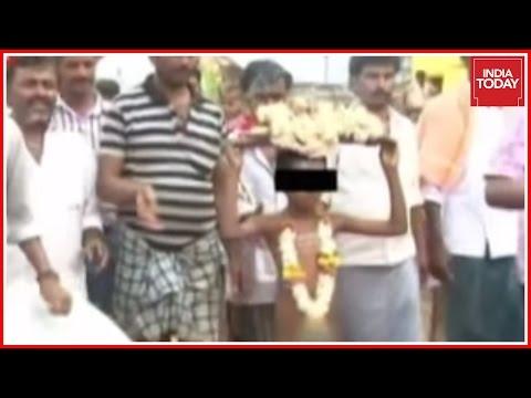 Child Paraded Naked For Rains In Karnataka