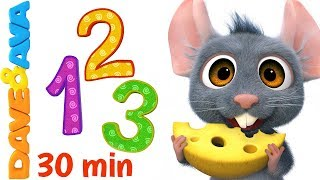 🔥Learn Numbers and Counting | Count 1 to 10 | Nursery Rhymes & Kids Songs from Dave and Ava 🔥