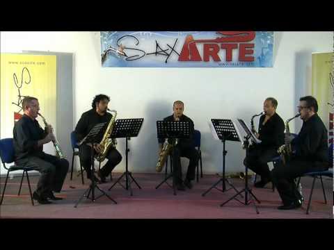 Hot Saxophone Quartet & Jean Yves Fourmeau plays