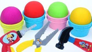 Kinetic Sand Ice Cream Surprise Toys Minnie Mouse Mickey Tools  Set Disney Princess Kinder