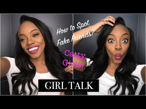 watch GIRL TALK - How to spot a fake friend? How to deal with fake friends? Catty Girls! | Just Ana