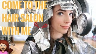 COME TO THE HAIR SALON WITH ME ✂️  VLOG 📹  CIARA O DOHERTY