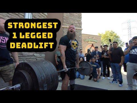 Strongest 1 legged Deadlift KC Mitchell Pitbull Torres Bakersfield Vlog