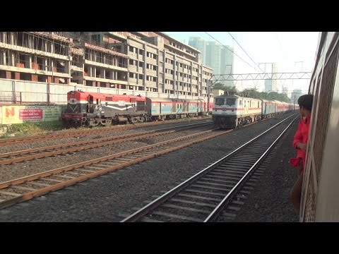 One Hell Of A Race with INDIA'S FASTEST TRAIN (Mumbai Rajdhani Express)