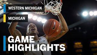 Highlights: Western Michigan at Michigan | Big Ten Basketball