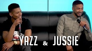 Empire's Yazz & Jussie Smollett Detail Kiss w/ Naomi Campbell & Craziest DM's