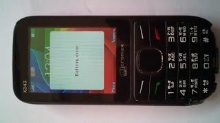 All Micromax mobile  battery error solution