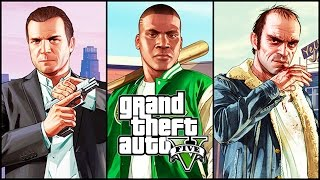 GTA 5 All Cutscenes MOVIE with All ENDINGS & Characters Conversations (PC 1080p 60FPS)