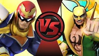 CAPTAIN FALCON vs IRON FIST! Cartoon Fight Club Episode 102