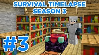 Enchanting Room! | Minecraft Survival Timelapse Season 3 Episode 3 | GD Venus |