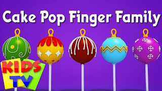 Cake pop finger family | Nursery Rhymes | Kids Songs | 3d rhymes